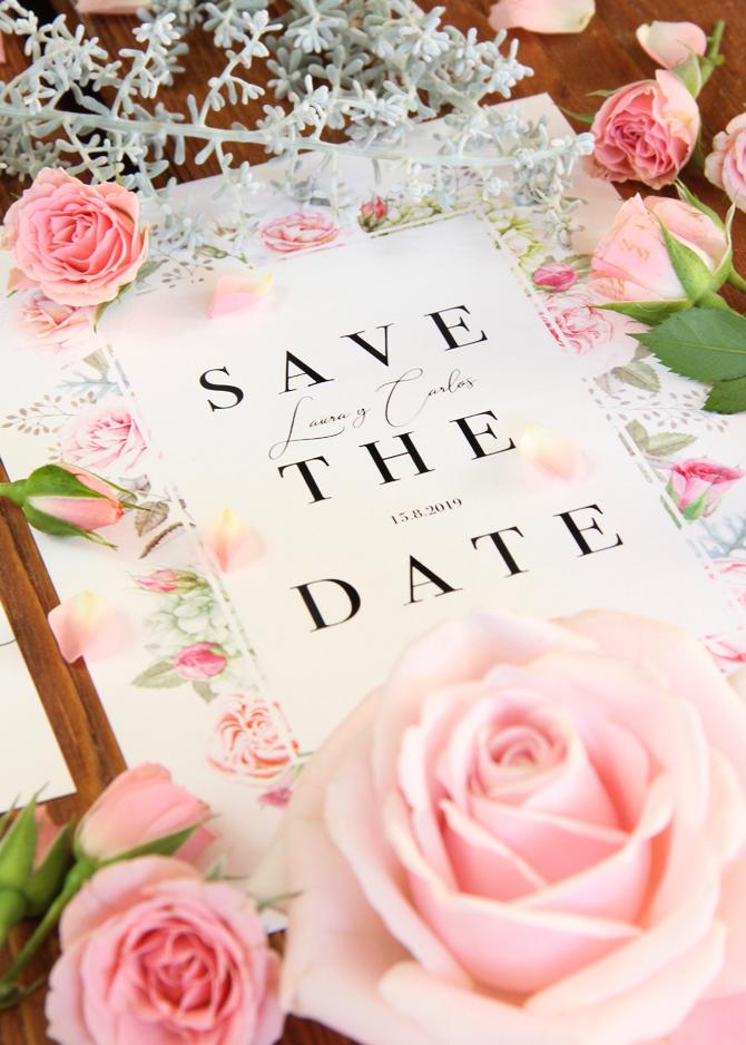 Invitación de boda Shabby Chic