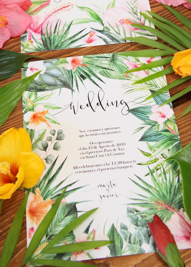 Sobre rosa invitación de boda Shabby Chic