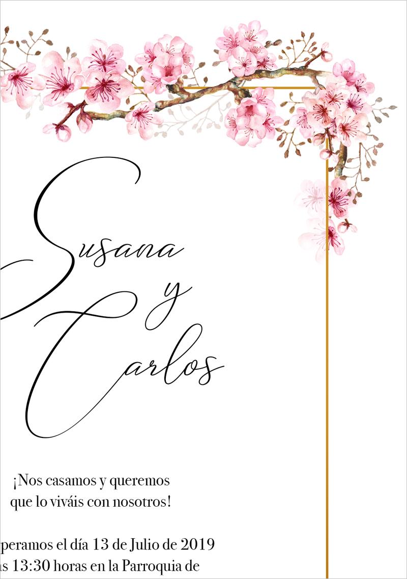 Invitaciones de boda de primavera