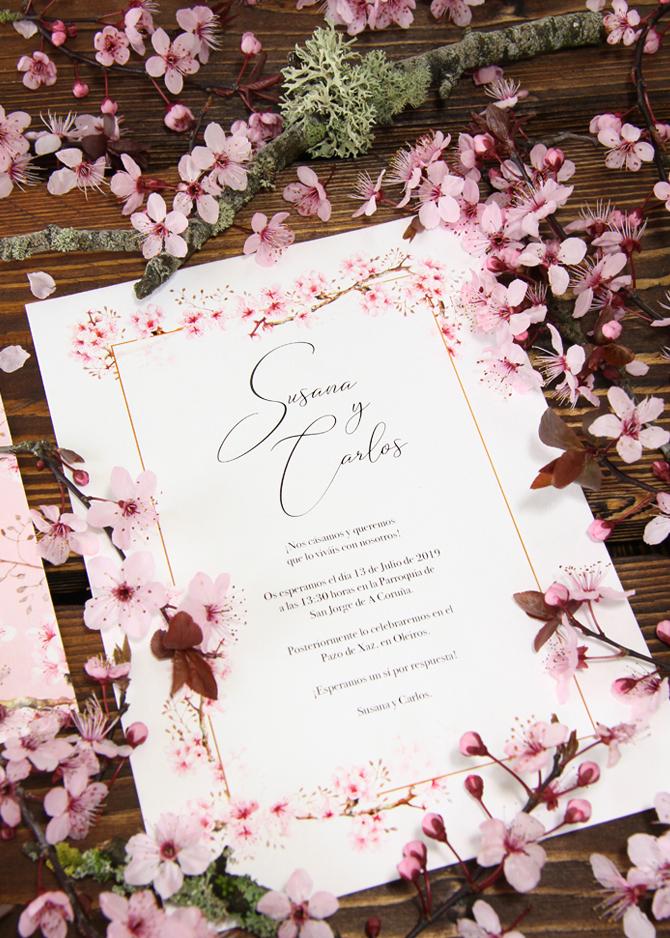 Invitación de boda de primavera