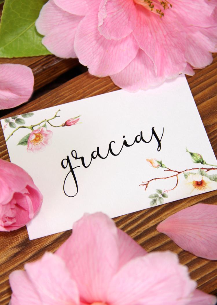 Invitación de boda rosas silvestres